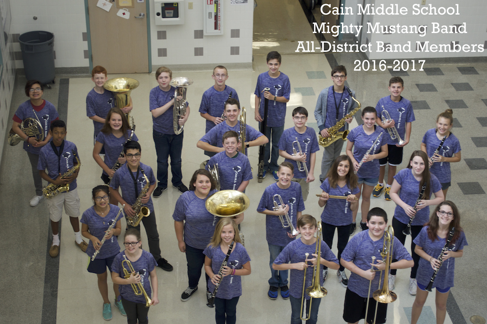 2016 CMS All-District Honor Band Members
