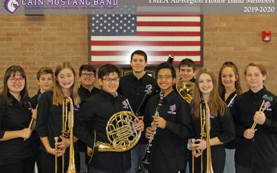 Congratulations to the 11 TMEA All-Region Honor Band Members!